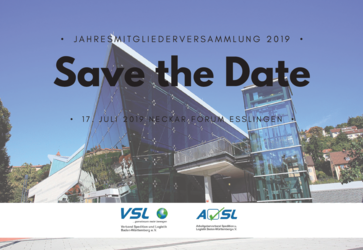 Save the date, Verband Spedition und Logistik
